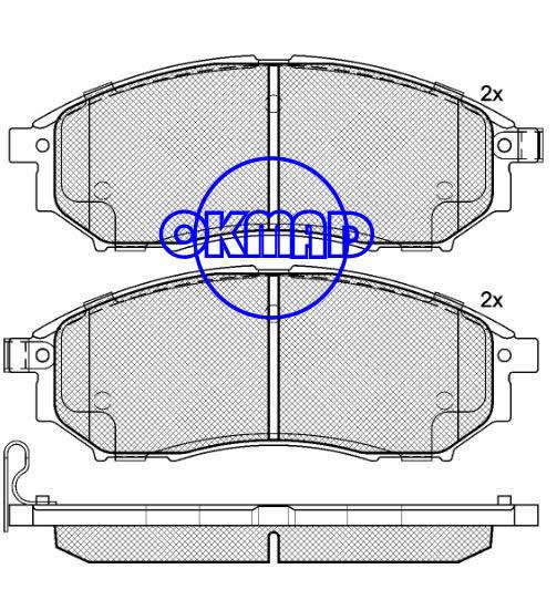 NISSAN MURANO NAVARA Pathfinder RENAULT KOLEOS INFINITI EX35 G35 M35 Q45 QX50 Brake pad FMSI:7766-D888 8221-D888 OEM:41060-AR090 FDB1881 FDB4177 TRW:GDB3392 WVA:23698 23699 24497, F888
