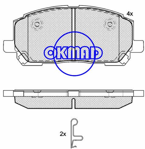 TOYOTA Highlander LEXUS RX (MCU15) Brake pad FMSI:7761-D884 OEM:04465-48020 FDB1911 TRW:GDB3286 WVA:23703, F884
