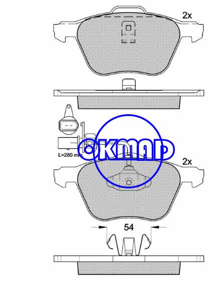 FORD GALAXY SEAT ALHAMBRA VW SHARAN TRANSPORTER IV Box Bus Platform/Chassis EuroVan Brake pad FMSI:7757-D880 OEM:7M3698151A FDB1497 TRW:GDB1460 WVA:23269 23270, F880