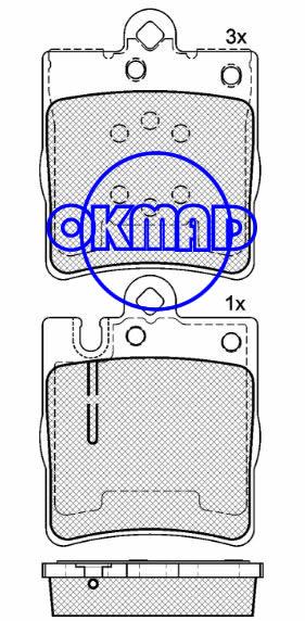 MERCEDES-BENZ E320 E420 E430 E-CLASS (W210) CLK Convertible (A208) Brake pad FMSI:7753-D876 OEM:0024205220 TRW:GDB1334 WVA:21898 21899, F876