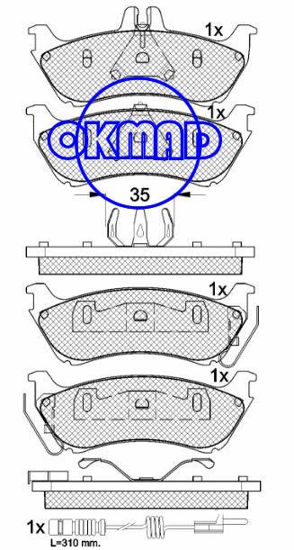 MERCEDES-BENZ ML320 ML350 ML430 M-CLASS (W163) Brake pad FMSI:7750-D875 OEM:1634201420 FDB1608 TRW:GDB1456 WVA:23189 23190 23192 23718, F875