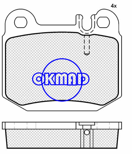 MERCEDES-BENZ ML430 ML500 ML55 M-CLASS (W163) Brake pad FMSI:7749-D874 OEM: 1634200720 FDB1512 TRW:GDB1457 WVA:23157, F874