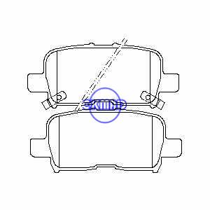 ACURA MDX (YD1) (YD2) HONDA Odyssey Pilot Brake pad FMSI:7740-D865 OEM:43022-S0X-A00, F865