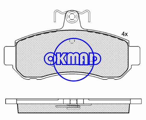 MITSUBISHI DIAMANTE MAGNA VERADA Brake pad FMSI:7731-D854 OEM:MR908192 MDB2244 TRW:GDB7650 WVA:22063, F854