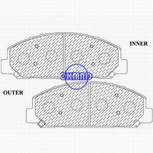 CHEVROLET TRUCK W3500 W4500 W5500 Tiltmaster GMC TRUCK Forward ISUZU COMMERCIAL Brake pad FMSI:7699-D827 OEM:8-97211-691-0, F827