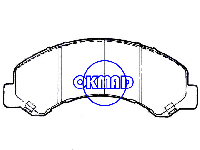 CHEVROLET TRUCK W3500 W4500 W5500 Tiltmaster GMC TRUCK Forward ISUZU COMMERCIAL Brake pad FMSI:7698-D826 OEM:8-97168-634-0, F826