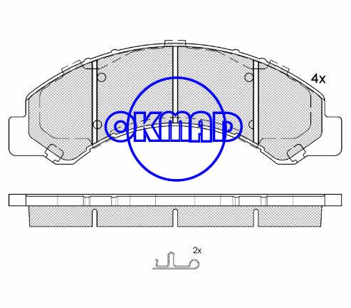 CADILLAC Escalade CHEVROLET TRUCK Silverado GMC TRUCK Sierra Brake pad FMSI:7707-D825 OEM:8-97168-633-0 WVA:25800, F825