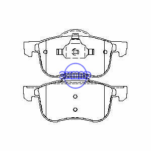 VOLVO S60 S80 V70 XC70 Brake pad FMSI:7664-D794 OEM:272401 FDB1382 TRW:GDB1388 WVA:23072 23073 23074 23464 23465 23466, F794