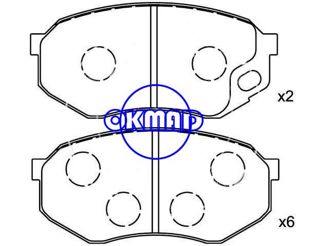 MITSUBISHI Canter Platform/Chassis FUSO FE-HD Brake pad FMSI:7604-D735 OEM:MC862939 TRW:GDB7101 GDB7095 AN364K AN427K, F735
