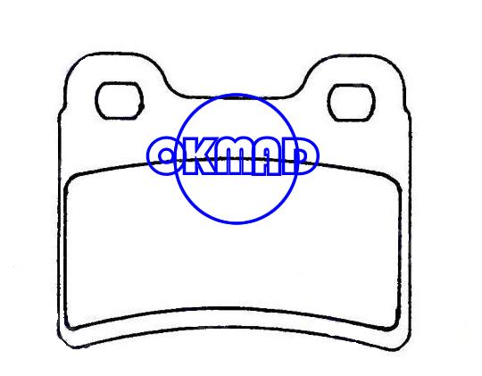 FORD ESCORT ORION KIA Sephia VW Pointer Brake pad FMSI:7568-D693 OEM:6500959 FDB772 TRW:GDB1124 GDB1639 WVA:21832 ATE:604058 605924, F693