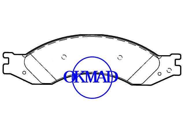 GMC C4500 C5500 C6500 C7500 C8500 Pastiglia freno TopKick FMSI: D1010-7914/D1064-7969 OEM: 88982418, F1010