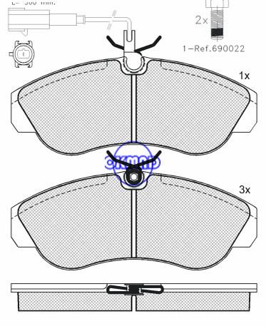 CITROEN JUMPER FIAT DUCATO PEUGEOT BOXER pastiglia freno FMSI:D1197-8317 OEM:4252.27 WVA:23603,F1197