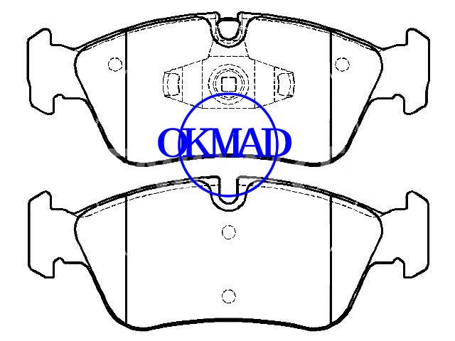 BMW 1 (E81) (E87) Cabrio (E88) Coupé (E82) 3 (E90) Pastiglia freno FMSI:8347-D1228 OEM:34112288849 FDB1751 GDB1625 WVA:23935 23977 23999, F1228