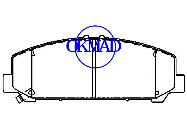 INFINITI QX56 NISSAN Armada Pathfinder Titan Xterra тормозные колодки FMSI: D1286-8403 OEM: D1060-ZC60J, F1286