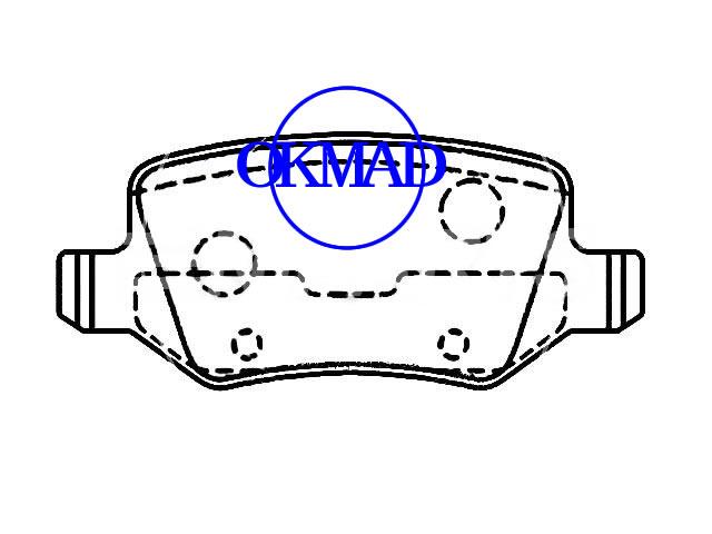 Mahindra XUV 500 MERCEDES BENZ W168 W169 W245 VANEO Pastiglia freno FMSI:8467-D1358 OEM:1684200420 FDB1782 GDB1433 GDB1481 WVA:23138, F1358