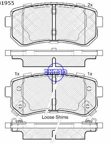 HYUNDAI ix35, KIA Sportage тормозные колодки FMSI: D1398-8506, OEM: 58302-2LA00, F1398