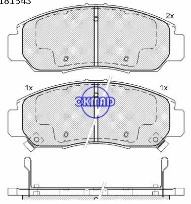 HONDA ACCORD Coupe CIVIC FR-V ODYSSEY INSPIRE STREAM pastiglia freno FMSI: D1506-7656, OEM: 45022-TL2-A00, F1506