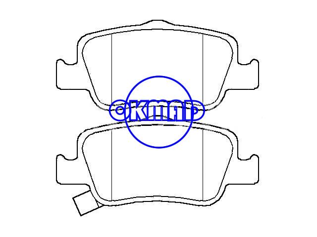 TOYOTA Corolla AURIS Pastiglia freno FMSI:8781-D1572 OEM:04466-02190 FDB4048 GDB3480 WVA:24664 24665 24666, F1572