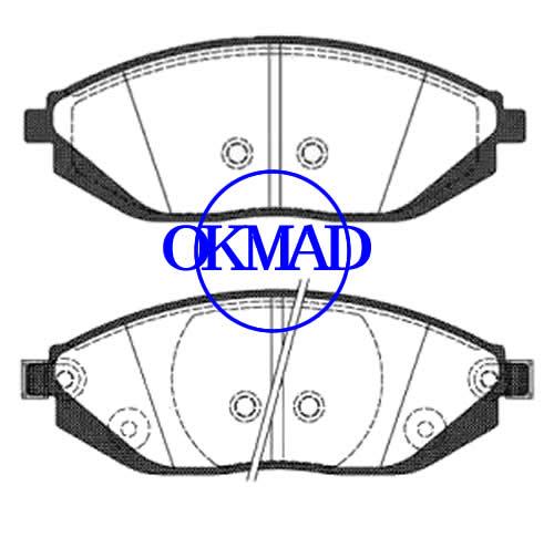CHEVROLET SPARK (M300) Pastiglia freno FMSI:8801-D1590 OEM:96682858 FDB4669 WVA:25268 GDB4606, F1590