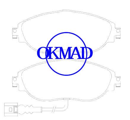AUDI A3 SEAT LEON SKODA OCTAVIA SUPERB III VW GOLF VII PASSAT SHARAN Pastiglia freno FMSI:8849-D1633 OEM:3C0 698 151 F FDB4425 WVA:24738 GDB1918, F1633