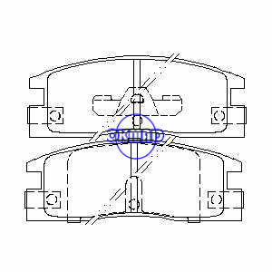 ISUZU Amigo Pickup Trooper pastiglia freno FMSI: 7328-D448 7328-D398 7287-D398 OEM: 8-94364-367-0, F448