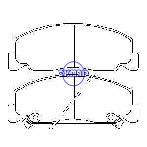 Pastiglie freno HONDA Accord Mk Civic CRX DX FMSI: 7439-D560 7178-D273 7355-D474 OEM: 45022-SA3-G10 FDB708 TRW: GDB7535 GDB764 WVA: 21330 21331 21332, F560