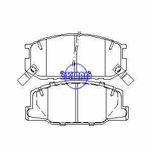 TOYOTA Previa Тормозные колодки FMSI: 7408-D616 7408-D527 OEM: 04491-28361 FDB932 TRW: GDB1190 WVA: 23009, F616