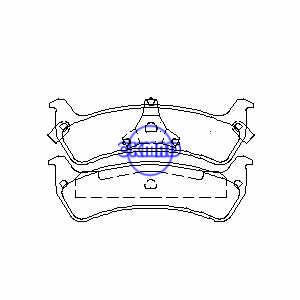 Pastiglia freno JEEP Grand Cherokee Limited FMSI:7502A-D625 OEM:4762101 TRW:GDB1238, F625