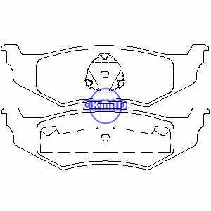 CHRYSLER NEON PT CRUISER SEBRING Cirrus Concorde Intrepid DODGE Intrepid Neon Stratus Pastiglia freno FMSI:7650-D782 7438A-D658 7438B-D641 7438-D759 7717-D759 OEM:05011630AA FDB1099 TRW:GDB1234 GDB4123562WVA,:235641
