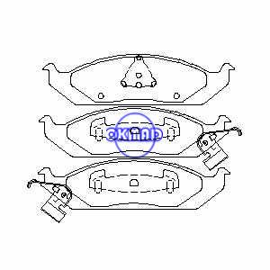 CHRYSLER Cirrus Sebring DODGE Stratus PLYMOUTH Breeze Pastiglia freno FMSI:7530A-D650 OEM:4728240 FDB1254 TRW:GDB4016 WVA:23318 23319 23320, F650