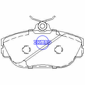 FORD Taurus TRUCK Windstar LINCOLN Continental MERCURY Sable Pastiglia freno FMSI:7536-D656 7479-D601 OEM:3018001 TRW:GDB4033 WVA:23637, F656