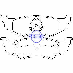 CHRYSLER NEON PT CRUISER SEBRING Cirrus Concorde Intrepid DODGE Intrepid Neon Stratus Pastiglia freno FMSI: 7650-D782 7438A-D658 7438B-D641 7438-D759 7717-D759 OEM: 05011630AA FDB1099 TRW: GDB1234 GDB4123562 WVA,:6561