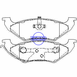 CHEVROLET TAHOE FORD Crown Victoria LINCOLN Town MERCURY Grand Marquis Pastiglie freno FMSI:7542-D662 7424A-D544 OEM:F1VY-2200-A, F662