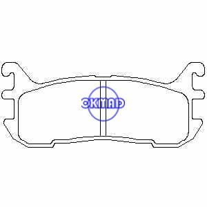 MAZDA 323 Protege FORD Escort ZX2 MERCURY Tracer Pastiglie freno FMSI: 7514-D663 7682-D663 OEM: BCYC-26-43ZA TRW: GDB3319 WVA: 23387, F663