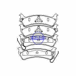 JEEP Grand Cherokee Limited Pastiglia freno FMSI:7502-D713 7502A-D666 OEM:4796344 WVA:24506, F666
