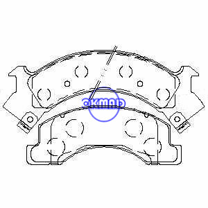 CHEVROLET TRUCK W3500 W4500 Tiltmaster W4S042 Avanti ISUZU COMMERCIALE Pastiglia freno FMSI:7425-D675 7425-D546 OEM:8-94479-583-0 AN-360WK, F675