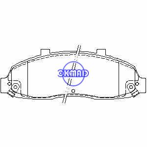 FORD USA Truck F150 LINCOLN Blackwood Pastiglie freno FMSI: 7558-D679 OEM: F6SZ-2001-AA TRW: GDB4103 WVA: 24757, F679