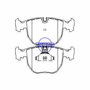 BMW 5 7 X3 X5 5309 540i 740iL M5 Тормозные колодки FMSI: 7560-D681 OEM: 34112157589 FDB997 TRW: GDB1261 GDB1702 WVA: 21486 21642, F681