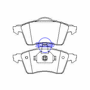 VW TRANSPORTER IV Box Bus Piattaforma/Telaio EuroVan Pastiglia freno FMSI:7579-D705 OEM:7D0698151E FDB1163 TRW:GDB1282 WVA:21883 21885, F705