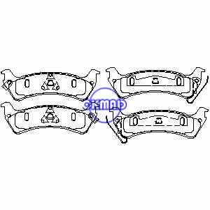 JEEP Grand Cherokee Limited Pastiglie freno FMSI:7502-D713 7502A-D666 OEM:4796344 WVA:24506, F713