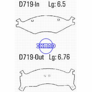 KIA Sportage Retona Тормозные колодки FMSI: 7550A-D719 7550-D670 OEM: 0K011-33-23Z FDB1034 TRW: GDB3123 WVA: 21892 21893 21894, F719