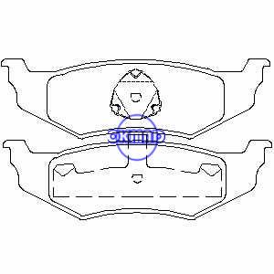 CHRYSLER NEON PT CRUISER SEBRING Cirrus Concorde Intrepid DODGE Intrepid Neon Stratus Pastiglia freno FMSI: 7650-D782 7438A-D658 7438B-D641 7438-D759 7717-D759 OEM: 05011630AA FDB1099 TRW: GDB1234 GDB4123562 WVA,: 235761