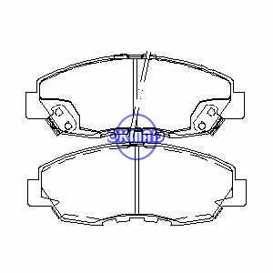 Pastiglia freno ACURA CL 4 HONDA Accord Civic Insight FMSI:7573-D764 7632-D764 7573-D465 9182-D1956 7345-D764 7345-D465 OEM:45022-S84-A01 45022-SM4-A00 TRW:GDB3144 GDB894 WVA:21497 21498 21499 , F764