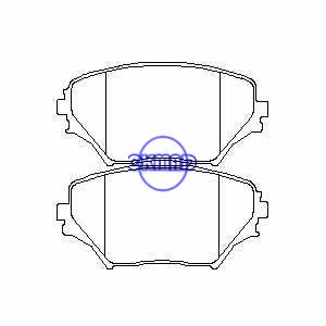 TOYOTA RAV4 Mk II Pastiglia freno FMSI:7738-D862 OEM: 04465-42080 FDB1514 TRW:GDB3251 WVA:23585 23586, F862