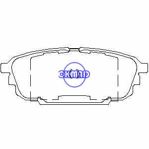 MAZDA Protege 2.0 Litri 5 ES Pastiglia freno FMSI:7771-D892 OEM:BKYT-26-43Z, F892