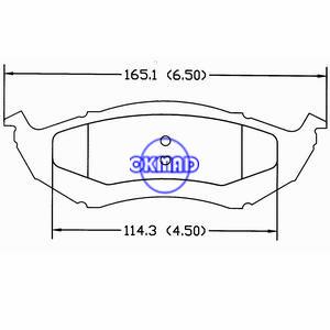 PLYMOUTH PROWLER Pastiglia freno FMSI:7598-D895, F895