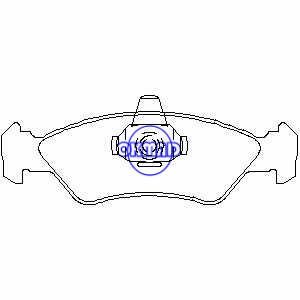 FORD FIESTA Furgonato KA TRUCK EcoSport MAZDA 121 III Pastiglia freno FMSI:8316-D1196 OEM:96FB-2K021-AA 6188427 FDB589 FDB1082 GDB953 GDB1221 WVA:21202 21203 23101, FF1082