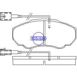 CITROEN JUMPER FIAT DUCATO PEUGEOT BOXER Furgone Furgone Piattaforma/Telaio FIAT Ducato Pastiglia freno FMSI:8318-D1198 OEM:4252.43 FDB1478 GDB1517 WVA:23917 23918 23859, FF1478