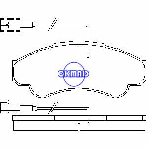 CITROEN JUMPER FIAT DUCATO PEUGEOT BOXER Furgone Furgone Piattaforma/Telaio Pastiglia freno OEM:77362216 FDB1479 GDB1518 WVA:23858 23919 23920, FF1479