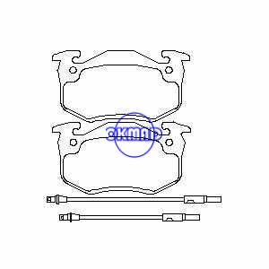 RENAULT SUPER 5 TWINGO I Pastiglia freno OEM:7701202213 FDB440 GDB328 WVA:20634 20966 20967 21096 21097, FF440